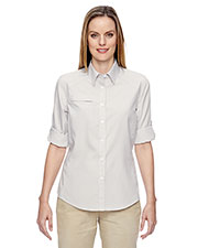 North End 77046 Women Excursion F.B.C. Textured Performance Shirt at GotApparel
