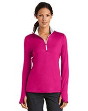 Nike 779796 Ladies 7.6 oz Dri-FIT Stretch 1/2-Zip Cover-Up at GotApparel
