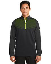 Nike 779803 Men 10.2 oz Therma-FIT Hypervis 1/2-Zip Cover-Up at GotApparel