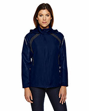 North End 78168 Women Sirius Lightweight Jacket with Embossed Print at GotApparel