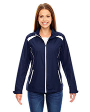 North End 78188 Women Tempo Lightweight Recycled Polyester Jacket with Embossed Print at GotApparel