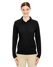 Core 365 78192 Women's Pinnacle Performance Long-Sleeve Pique Polo at GotApparel