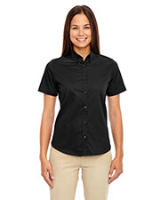 Core 365 78194 Women Optimum Short-Sleeve Twill Shirt at GotApparel