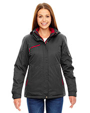 North End 78209 Women Rivet Textured Twill Insulated Jacket at GotApparel