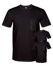 Anvil 783AN Adult Midweight Pocket T-Shirt 3-Pack at GotApparel