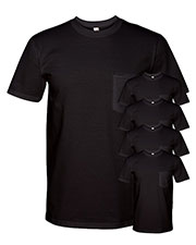 Anvil 783AN Adult Midweight Pocket T-Shirt 5-Pack at GotApparel