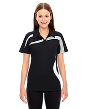 North End 78645 Women's Impact Performance Polyester Pique Colorblock Polo at GotApparel