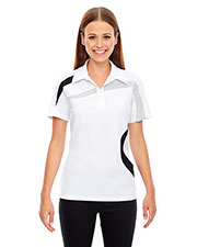North End 78645 Women Impact Performance Polyester Pique Colorblock Polo at GotApparel