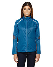 North End 78654 Women Dynamo Three-Layer Lightweight Bonded Performance Hybrid Jacket at GotApparel