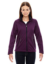 North End 78655 Women Splice Three-Layer Light Bonded Soft Shell Jacket with Laser Welding at GotApparel