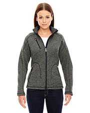 North End 78669 Women Peak Sweater Fleece Jacket at GotApparel