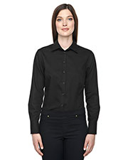 North End 78673 Women Boulevard Wrinkle Free TwoPly 80 Cotton Dobby Taped Shirt with Oxford Twill at GotApparel