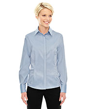 North End 78689 Women Refine Wrinkle-Free Two-Ply 80 Cotton Royal Oxford Dobby Taped Shirt at GotApparel
