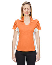 North End 78691 Women Reflex Utk Cool.Logik  Performance Embossed Print Polo at GotApparel