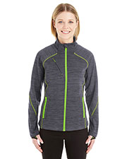 Ash City 78697  Ladies' Flux Mélange Bonded Fleece Jacket at GotApparel