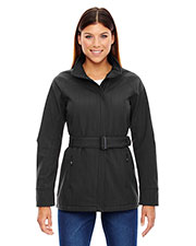 North End 78801 Women Skyscape ThreeLayer Textured Two-Tone Soft Shell Jacket at GotApparel