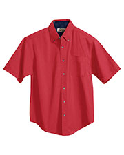 Tri-Mountain 788 Men Valor Cotton Short Sleeve Peached Twill Shirt at GotApparel