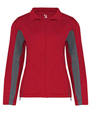 Badger 7903 Women Lady Tricot Zip Jacket at GotApparel