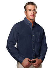 Tri-Mountain 790 Men Regency Cotton Long-Sleeve Peached Twill Shirt at GotApparel