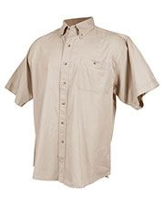 Tri-Mountain 808 Men Director Cotton Short Sleeve Twill Shirt at GotApparel