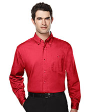 Tri-Mountain 810 Men Executive Cotton Long Sleeve Twill Shirt at GotApparel