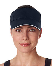 UltraClub 8113 Unisex Classic Cut Brushed Cotton Twill Sandwich Visor at GotApparel