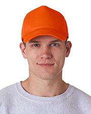 UltraClub 8120 Unisex Classic Cut Cotton Twill 5Panel Cap at GotApparel