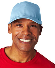 UltraClub 8121 Unisex Classic Cut Cotton Twill 6-Panel Cap at GotApparel