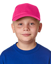 UltraClub 8122 Kids Classic Cut Cotton Twill 6-Panel Cap at GotApparel