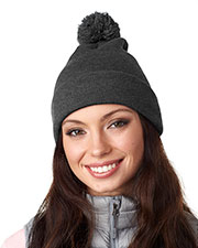 UltraClub 8136 Adult Knit PomPom Beanie with Cuff at GotApparel