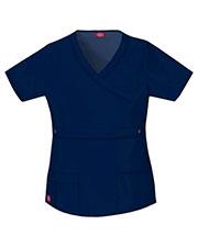 Dickies Medical 817355 Women Mock Wrap Top at GotApparel