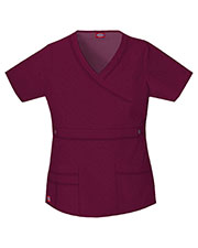 Dickies Medical 817355 Women Mock Wrap Top at GotApparel