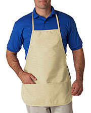 UltraClub 8201 Unisex Large 2-Pocket Bib Apron at GotApparel