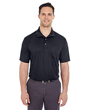 UltraClub 8210P Men Cool & Dry Mesh Pique Polo with Pocket at GotApparel