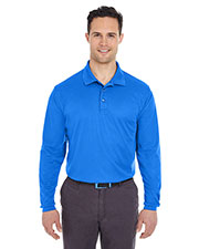UltraClub 8210LS Men's Cool & Dry Long-Sleeve Mesh Pique Polo at GotApparel