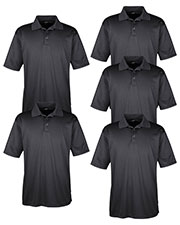 Ultraclub 8220 Men Cool & Dry Jacquard Stripe Polo 5-Pack at GotApparel