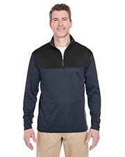 UltraClub 8233 Adult Cool & Dry Sport Colors Block 1/4-Zip Pullover at GotApparel
