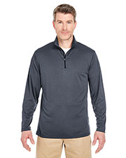 UltraClub 8235 Adult Striped 1/4-Zip Pullover at GotApparel