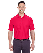 UltraClub 8250 Men Cool & Dry Box Jacquard Performance Polo at GotApparel