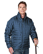 Tri-Mountain 8255 Men Brooklyn Rib Stop Long-Sleeve Quilt Jacket With Water Resistent  at GotApparel