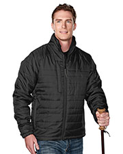 Tri-Mountain 8255 Men Brooklyn Rib Stop Long Sleeve Quilt Jacket With Water Resistent  at GotApparel