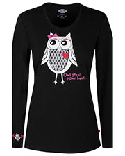 "Dickies Medical 82739 Women ""Owl Steal Your Heart"" Underscrub Tee at GotApparel"