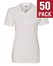 Gildan G828L Women Premium Cotton  6.5 Oz. Double Pique Sport-Shirt 50-Pack at GotApparel