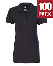 Gildan G828L Women Premium Cotton  6.5 Oz. Double Pique Sport-Shirt 100-Pack at GotApparel