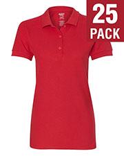 Gildan G828L Women Premium Cotton  6.5 Oz. Double Pique Sport-Shirt 25-Pack at GotApparel