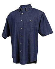 Tri-Mountain 828 Men Scout Denim Short Sleeve Shirt at GotApparel