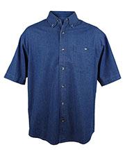 Tri-Mountain 828 Men Scout Denim Short-Sleeve Shirt at GotApparel