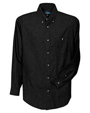 Tri-Mountain 829 Men Pioneer Denim Long Sleeve Shirt at GotApparel