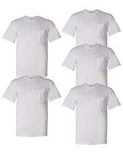 Gildan G830 Men Dryblend  5.6 Oz. 50/50 Pocket T-Shirt 5-Pack at GotApparel