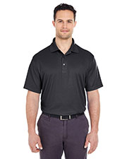UltraClub 8305 Men Cool & Dry Elite Mini-Check Jacquard Polo at GotApparel